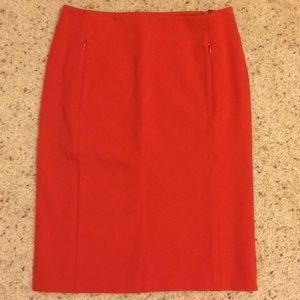 Diane Von Furstenberg red koto pencil skirt 4